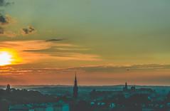 Summer throwback (robertkowalski91) Tags: summer cityscape city citylife sunset sky clouds sun overthecity plane colors cityvibes cityview nature naturephotography kraków cracow mound