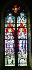 Nanteuil-en-Vallée, Charente: église Saint Jean-Baptiste, vitrail F. Chigot, Limoges, 1939 (Marie-Hélène Cingal) Tags: france poitoucharentes sudouest nouvelleaquitaine charente 16