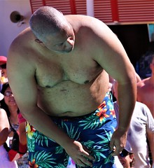 people on cruise pool deck (miosoleegrant2) Tags: deck cruise vacation sea pool swim bare chest naked swimsuit swimwear sunning male men hunk muscle masculine pecs torso guy chested buzz armpits hairy nipples abs navel outdoor water swimming sport husky burly strapping brawny speedo people belly