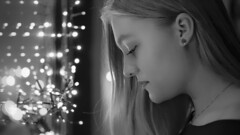 goodbye 2018 (frax[be]) Tags: atmosphere moody 50mm fuji xe3 girl portrait fineart lights indoor poetry noiretblanc monochrome bokeh blackandwhite bnw bw composition