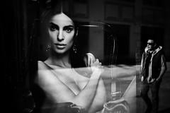 reflection (Sandy...J) Tags: urban streetphotography sw city reflection noir monochrom blackwhite bw fuji xt100 absoluteblackandwhite