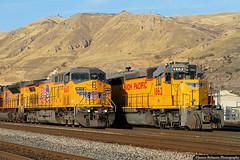 Wings in Flight (jamesbelmont) Tags: ge ac4400cw emd sd40n sd402 unionpacific railway saltlakecity utah newextension northyard