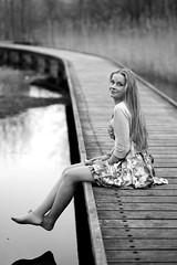 0147 (boeddhaken) Tags: longhair blond dreamwoman beautifulwoman woman sexywoman cutegirl lovelygirl dreamgirl beautifulgirl girl sexygirl hetzwin zwin nature natureparc tree bridge longbridge laydown