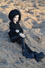 Happy Day~ (MlleChantilly) Tags: bjd bjdphotography dollphotography dolls souldoll soulkid fafner goth gothic gothique punk river water tree nature sun msd