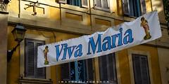 Trastevere Rome Italy 2018 (John Hoadley) Tags: trastevere rome italy 2018 september banner sign canon 7dmarkii 24105 f8 iso400 vivamaria