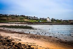 beach take 2 (1 of 1) (steamnut777) Tags: canon sand sea sky house stones car boats scotland banff