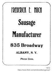 1913 frederick moch, sausage manufacturer (albany group archive) Tags: albany ny history 1913 frederick moch sausage manufacturer broadway early 1900s 835 old vintage photos picture photo photograph historic historical