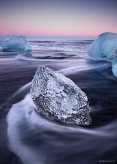 A Diamond in the Rough (Donald Y) Tags: red iceland jokusarlon diamondbeach cold ice frost nikon sunset diamond beach sea ocean