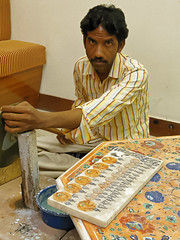 _MG_3143_DxO (carrolldeweese) Tags: agra india marble inlay worker