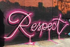Respect by Adam Fu (wiredforlego) Tags: graffiti mural streetart urbanart aerosolart publicart bushwick brooklyn newyork nyc adamfu neon