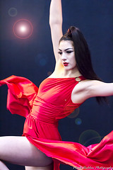 Dancing Queen (Mark Haddon Images) Tags: model ladyinred dancing manipulated