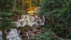 Pha Charoen Waterfall-1 (Sauken Laula Photos) Tags: thailand maesot waterfall terraced jungle water rocks