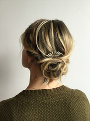 Haley's bride stunned with a beautiful hair pin!