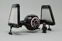 First Order TIE-Proteus (3) (Inthert) Tags: lego tie fighter first order moc cockpit space ship pilot wings sfoils folding shuttle