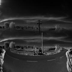 a split world (old&timer) Tags: background infrared filtereffect composite surreal song4u oldtimer imagery digitalart laszlolocsei