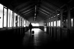 2018_364 (Chilanga Cement) Tags: fuji fujifilm fujix100f fujix xseries x100f bw blackandwhite monochrome station llandudno travel travekking train