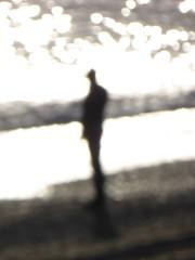 Sognando la luce (fotomie2009) Tags: spot spots flou sfuocato silhouette light sea mare backlight backlit controluce monochrome monocromo monotone man people uomo
