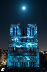 Pleine Lune & Dame de Coeur (A.G. Photographe) Tags: anto antoxiii xiii ag agphotographe paris parisien parisian france french français europe capitale d850 nikon nikkor 2470 notredame damedecoeur fullmoon pleinelune moon