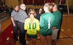 IMG_3161 (SJH Foto) Tags: girls high school volleyball bishop shanahan hempfield state pool play championships canon 1018 f4556 stm superwide lens pregame ceremonies ref referee captains coin toss coaches