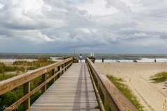 Rain is coming HFF (Irina1010) Tags: beach tybeeisland ga bridge sand vegetation oacean waves couds storm people atlantic october 2018 canon outstandingromanianphotographers