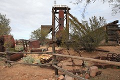 Goldfield57 (ONE/MILLION) Tags: vacation travel tours visit old history mine mining town gold goldfield arizona church railroad cross rust rusty saguaro cactus williestark onemillion horse blue sky outdoors mountains superstition lost dutchman bell flowers cowboys