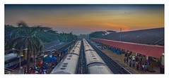 Madgaon Junction Railway Station, Goa, India, at six in the morning, the starting place for many adventures. (Richard Murrin Art) Tags: madgaonjunctionrailwaystation goa india atsixinthemorning thestartingplaceformanyadventures richard murrin art dawn sunrise