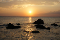 Sunday Sun and Sea (right2roam) Tags: greece crete falassarna beach mediterranean sun sunset sea island gold peaceful right2roam golden