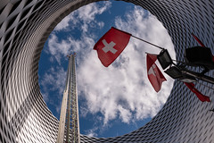 L1000200.jpg (Butters.photo) Tags: sky switzerland messeplatz clouds flag rides herbstmesse basel