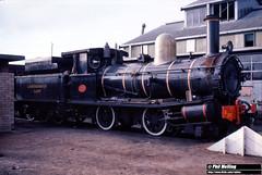 3802 G233 Bunbury Loco 18 June 1983 (RailWA) Tags: railwa philmelling westrail 1983 g233 bunbury loco