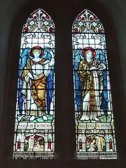 St. Mary's Church, Upton Grey, Hampshire (Living in Dorset) Tags: stainedglasswindow churchwindow church window stmaryschurch uptongrey hampshire england uk gb wardead wwi georgelimbreysclaterbooth baronbasing maryladybasing