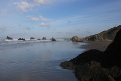 View to the distant river jetty (rozoneill) Tags: bandon beach face rock coquille point river devils kitchen oregon coast trail hiking
