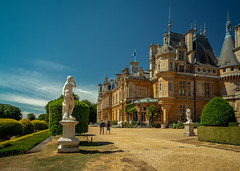 A modest abode in the country (Through_Urizen) Tags: architecture buckinghamshire category england external hdr places waddesdonmanor canon1585mm canon70d canon outdoor architecturephotography building statelyhome uk garden plants estate unitedkingdom summer