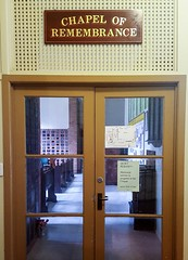 2018. Entrance to St Andrew's Chapel of Remembrance. (Love in a little black diary) Tags: brisbane anglicanchurch standrewsanglicanchurchsouthbrisbane southbrisbane historicbuilding heritagebuilding building queensland queenslandheritageregister