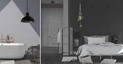 Jack Hanby Interiors; Modern Shabby/Industrial chic (Jack Hanby -) Tags: shabby modern balanced masculine edgy raw elemental greenery spacious drawn back pillows wool cord materialistic exposure fresh minimal