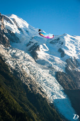 Deep spiral ©DamienDeschamps (deschdam6@gmail.com) Tags: sky sport sports parapente paragliding wings fly blue mountains playground outdoors life action photography adventure extreme chamonix mont blanc montblanc alps alpes france paysages landscape glacier nature aerial