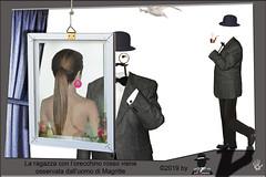 LA RAGAZZA CON L'ORECCHINO OSSERVATA DALL'UOMO DI MAGRITTE (ADRIANO ART FOR PASSION) Tags: surrealismo fotomontaggio photoshop digitalart magritte vermeer laragazzaconlorecchino pipa bombetta uomoingrigio surrealism adrianoartforpassion artedigitale uomochefumalapipa gabbiano γράφωμετοφωσ
