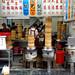 Laozhou dumpling shop in Hualien - tower of steamers