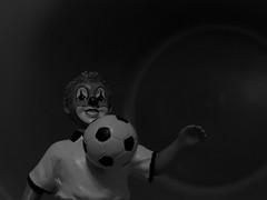 Macro Mondays - Hobby (ISOZPHOTO) Tags: macromondays hobby bw sw fusball football gildeclowns clown isoz isozphoto monochrome olympus e620 zuiko 50mm makro macro ft fourthirds esystem oly olympuse dslr spiegelreflex 43 mzuiko schwarzundweis blackwhite blackandwhite 2019 nahaufnahme bokeh gilde mm hmm 50mm20 figur figure superb