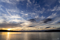 Cloudy Sunset (BobbyFerkovich) Tags: bristolsunsetrentonwashingtonlakewashington water clouds sun dusk twilight golden hour