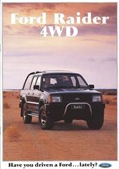 Ford Raider 1991 (Hugo-90) Tags: ford raider suv mazda proceed marvie b2300 ads advertising brochure folder australia