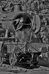 A Day Almost Done (Better Living Through Chemistry37 (Archive3)) Tags: 75014 braveheart steam locomotives dartmouthrailway mono blackwhite