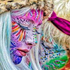bright (Bim Bom) Tags: carnaval carnival maastricht woman girl disguise facepainting streetphoto streetlife limburg netherlands