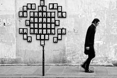 ... (ROOTSMAN84) Tags: paris street photo blackwhite contrast one person rue men wall step stphotographia