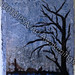 """""""Lonely Tree"""" by Kymberley P, acrylic on hand made paper, $40.00"""