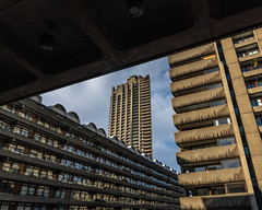 Framed (Sam Codrington) Tags: powellandbon buildingcomplex geometrical bbctravel winter buildings eosr fall brutalism barbicanestate london cityoflondon triangle bbcengland framed architecture barbican brutalistarchitecture canoneosr brutalist outdoors england unitedkingdom gb