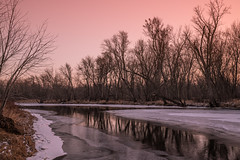 Kettle River in Winter - St. Croix State Park, Minnesota (Tony Webster) Tags: kettleriver minnesota saintcroixstatepark stcroixstatepark frozen ice river riverlanding snow statepark sunset trees winter