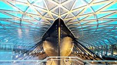 The Hull of the Cutty Sark, Greenwich, London..... (markwilkins64) Tags: greenwich london hull geometry boat ship markwilkins blue cuttysark