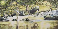 Bunt - und BleistiftMalerei (firlie-de) Tags: firlie cp coloredpencil angler fischer sportfischer fabercastell