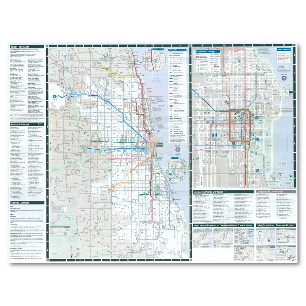 Downtown Chicago Subway Map.The World S Best Photos Of Cta And Map Flickr Hive Mind