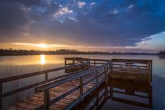 Winters Sun (Kevin Rodde Photography) Tags: sunrise sky pier deepquarrylake dupagecounty wayne lake water forestpreservedistrictofdupagecounty fpddc dupageforest sun kevinroddephotography kevinrodde canon eos6d 6d 24105mm westbranchforestpreserve